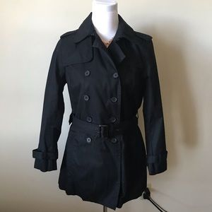 NWT Black Trench Coat
